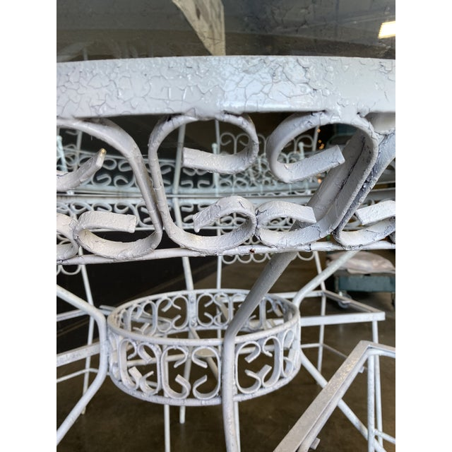 1960s Mid Century Modern Arthur Umanoff Iron Patio Table & 4 Chairs For Sale - Image 5 of 9