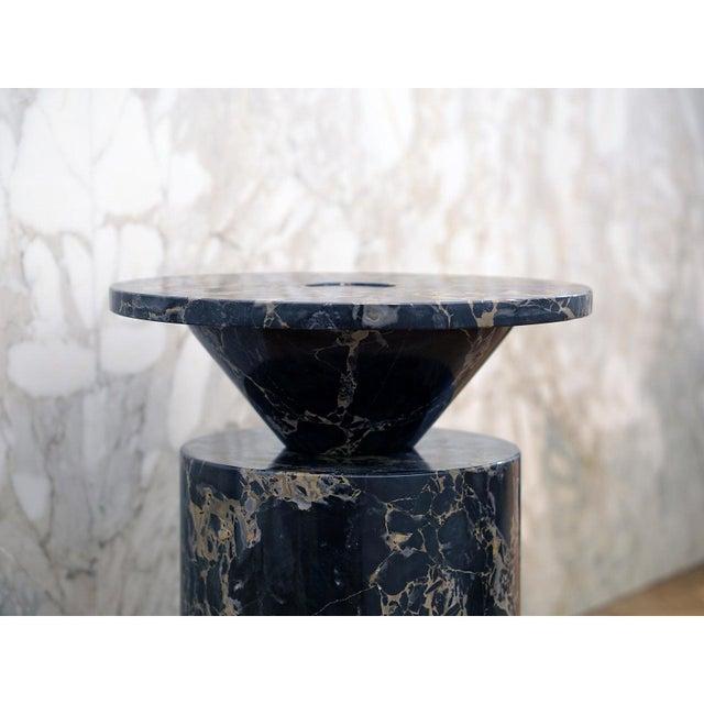 Black Portoro Marble Coffee Table by Karen Chekerdjian For Sale - Image 9 of 13