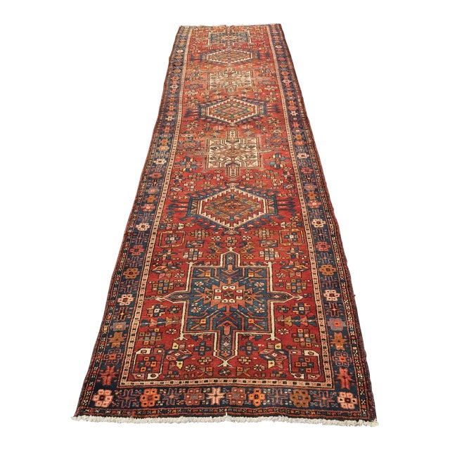 "Vintage Persian Karajeh Runner - 3'1"" x 11'6"" - Image 1 of 10"