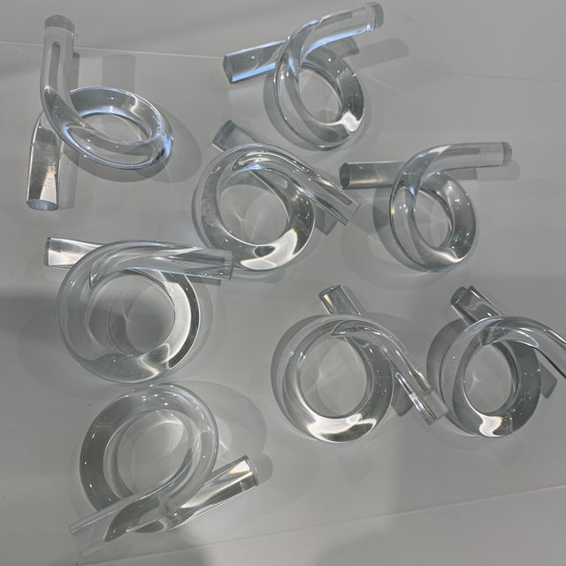 Glass Knot Napkins Set of 8 For Sale - Image 11 of 11