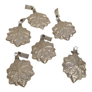 Inge Glass Snowflake Ornaments - Set of 6 For Sale