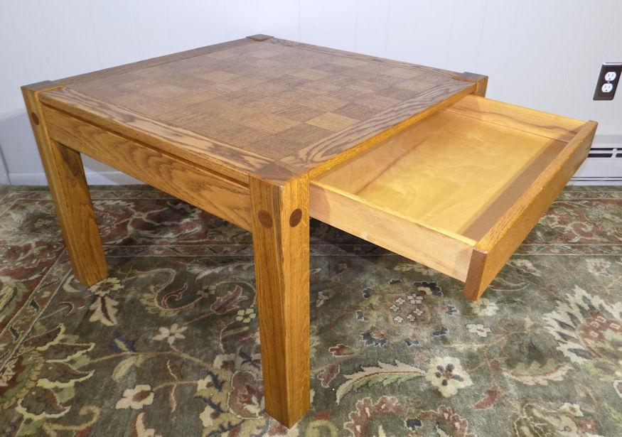 Beau Conant Ball Conant Ball Parquet Top Oak Chess Board Coffee Or End Table For  Sale