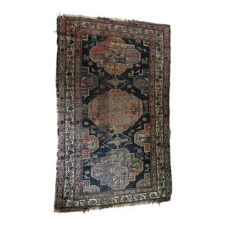 Late 19th Century Antique Persian Heriz Rug- 3′4″ × 5′ For Sale