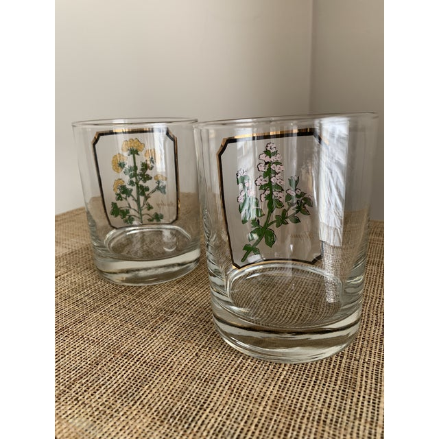 1950s Vintage Culver 'Thyme & Parsley' Old Fashion Glasses - a Pair For Sale - Image 10 of 12