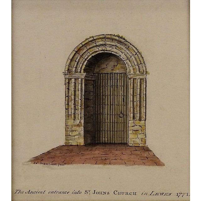 Lambert St. Johns Church Watercolor Painting - Image 2 of 3