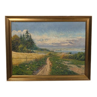 Impressionist Country Road by E. Byk For Sale