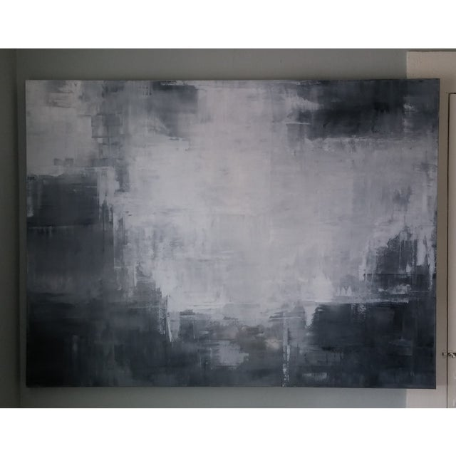 """Grey Shadows"" Abstract Art by Kris Gould - Image 3 of 5"