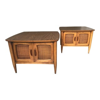 1960s Mid Century Modern Lane Side Tables - a Pair For Sale