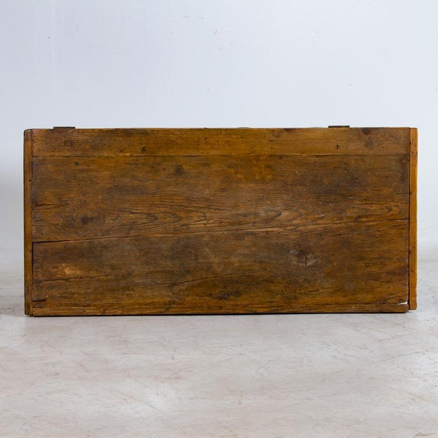 Red 19th Century Antique Painted Trunk For Sale - Image 8 of 10
