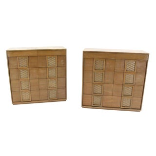 Pair of Cerused High Chests of Drawers or Dressers