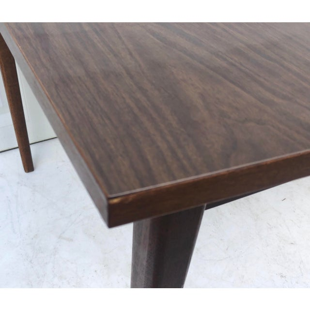 Wood Mid-Century Modern Dining Table With Leaf For Sale - Image 7 of 11