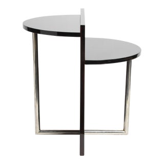 Makassar Veneer Hungarian Side Table For Sale