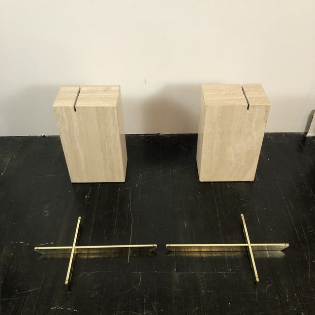 1970s Artedi Italian Marble Side Tables - a Pair For Sale - Image 12 of 13