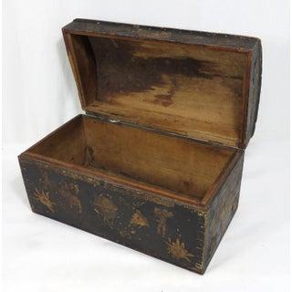 Mid 19th Century Antique Pine Decoupage Document Box Preview