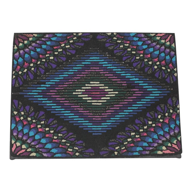 20th Century P.A. Mennonite Geometric Mounted Rug For Sale