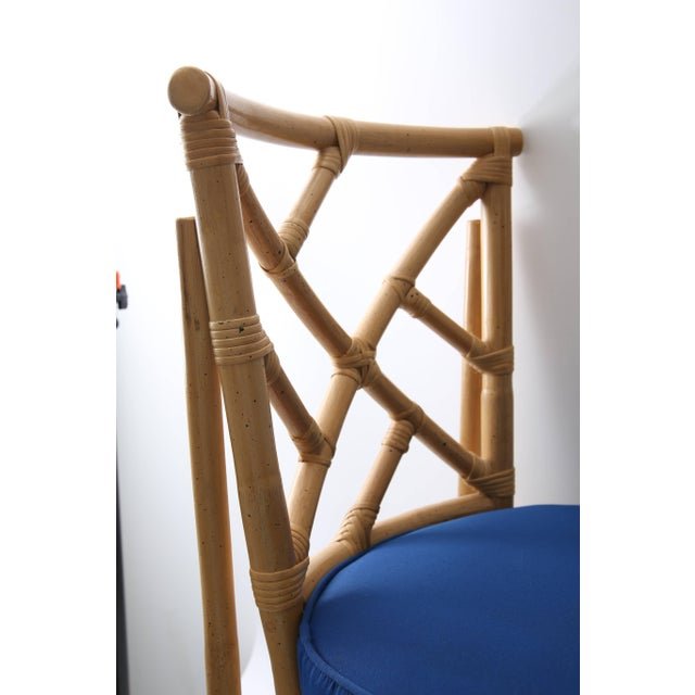 Set of Four Bamboo Side Chairs For Sale - Image 10 of 13