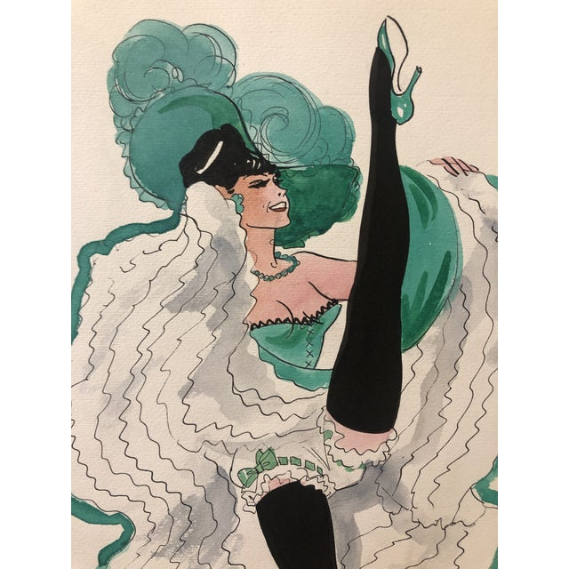 Figurative 1950s Can Can Dancer, Painted in Paris by Alice Huertas For Sale - Image 3 of 6