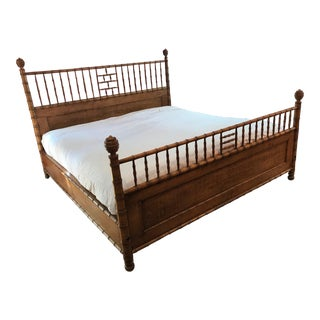 Michael S. Smith Faux Bamboo Bed For Sale
