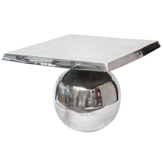 1980s Modern Square/Ball Sculptural Side Table For Sale