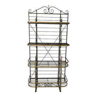 French Style Brass & Iron Bakers Rack