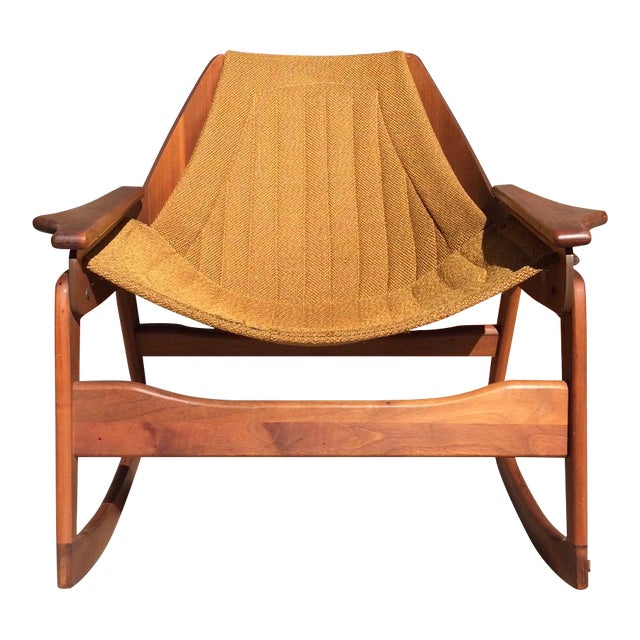 Mid-Century Sculptural Rocking Chair by Jerry Johnson For Sale