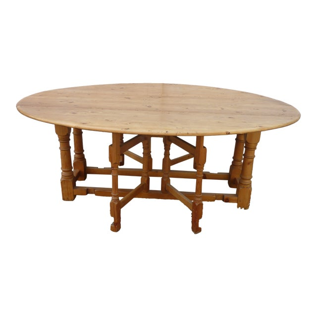 20th Century Scandinavian Pine Drop Leaf Coffee Table For Sale