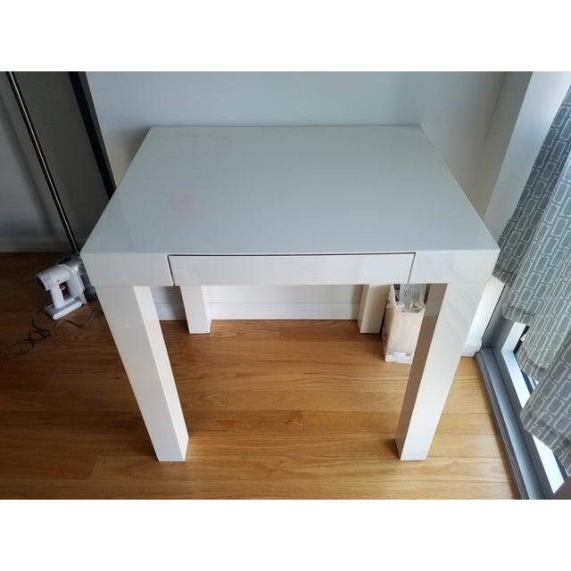 West Elm Parsons Mini Desk For Sale - Image 5 of 5