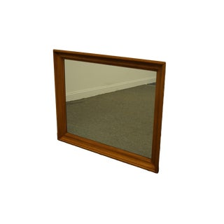 Tell City Furniture Colonial Style Solid Hard Rock Maple Dresser / Wall Mirror For Sale