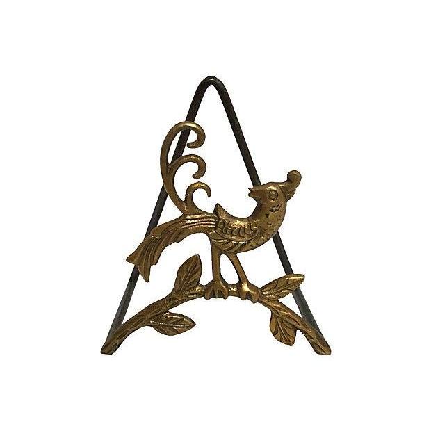 Brass Peacock Letter Holder - Image 1 of 2