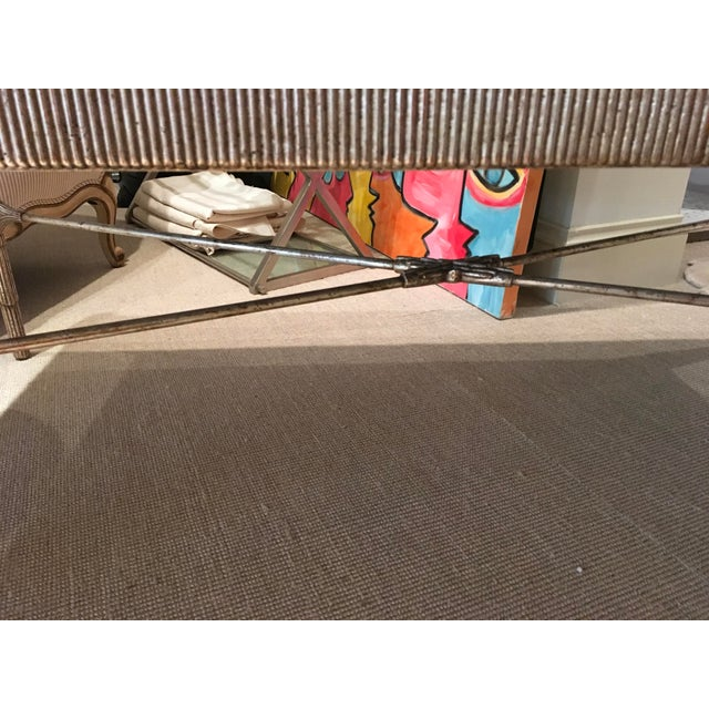 Mid-Century Cocktail Table with Antique Silver Finish and Mirrored Top For Sale In New York - Image 6 of 7