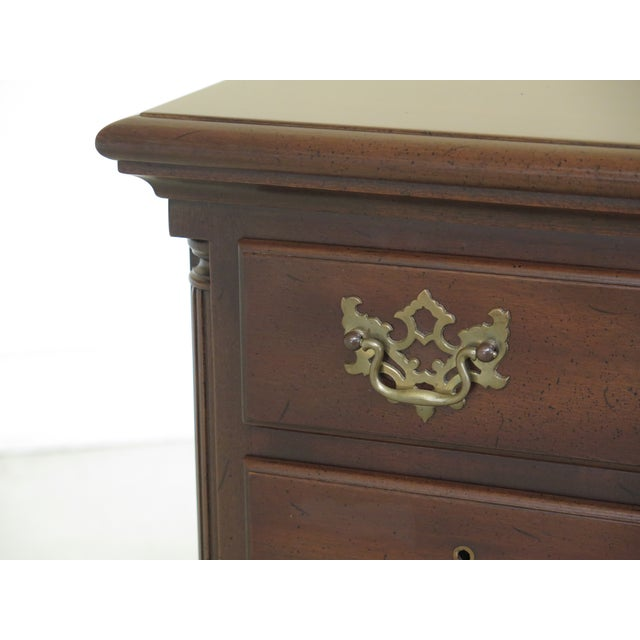 Kittinger Biggs ball & claw mahogany lowboy. Features dovetailed drawer construction, fine carved Details, high quality...