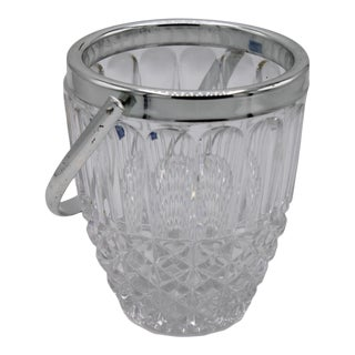 Mid-Century Crystal Ice Bucket For Sale