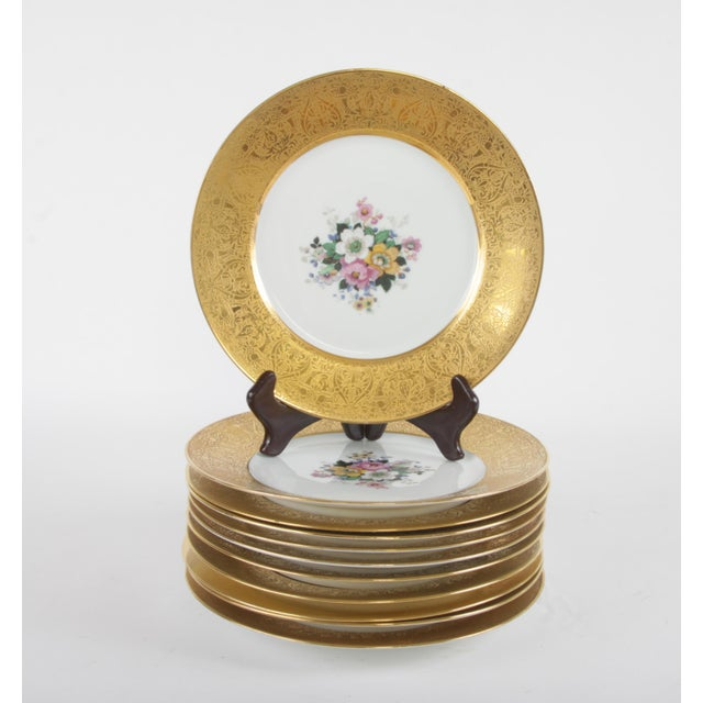 Bavarian Hutchenreuther Gilt Encrusted Plates - Set of 12 For Sale - Image 9 of 9