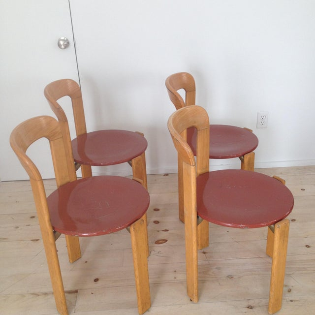 Mid-Century Modern Swiss Co. Dietiker Bruno Rey Chairs - Set of 4 For Sale - Image 3 of 7