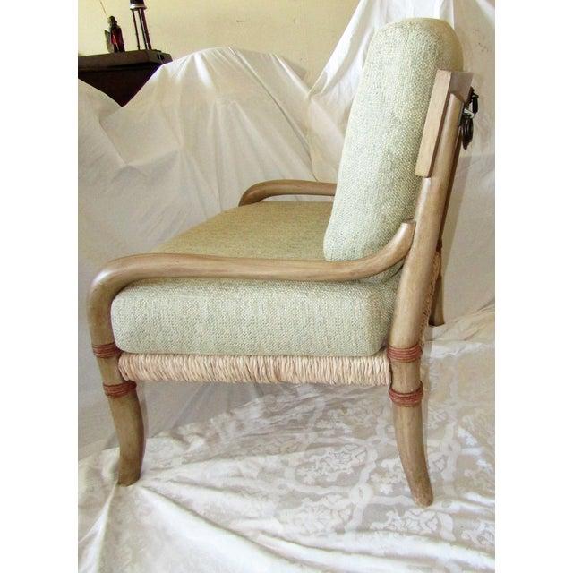 Woven Rattan & Bent Bamboo Chair & Ottoman - Image 4 of 5