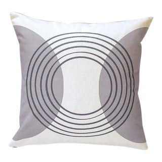 Contemporary Isola Retro Target Circles Pillow Cover For Sale