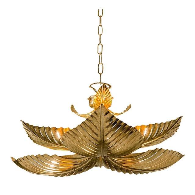 Art Deco Medium Palm Pendant Light For Sale - Image 3 of 3