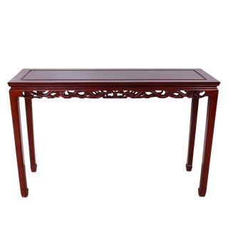 Vintage Chinese Rosewood Entry Console / Sofa Table For Sale