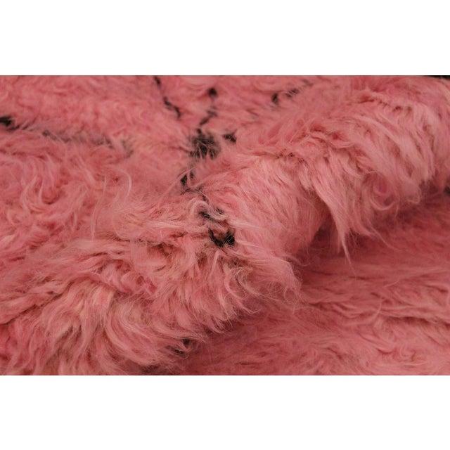 Moroccan Arya Doyle Pink/Black Wool Rug -7'9 X 10'4 - Image 7 of 8