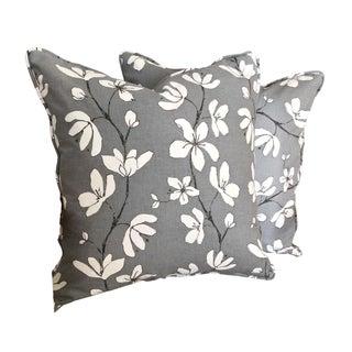 West Elm Floral Pillow Covers - A Pair For Sale