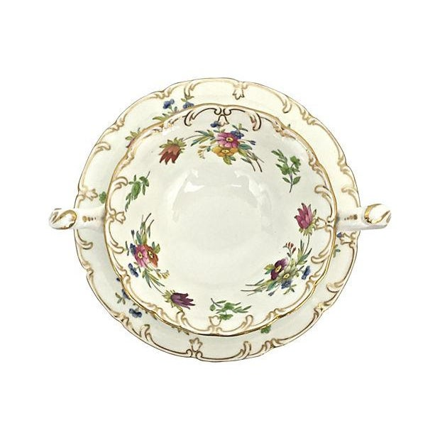 English Soup Cups & Saucers - Set of 6 - Image 6 of 10