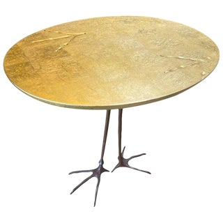 Meret Oppenheim Bronze 'Traccia' Coffee Table, Italy C. 1972 For Sale