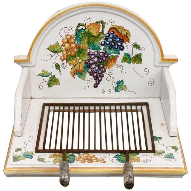 Italian Pottery Ceramic Hibachi or Garden Sink Surround For Sale - Image 13 of 13