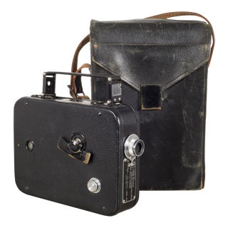 Cine-Kodak 8mm Movie Camera and Leather Case C.1950 - a Pair For Sale