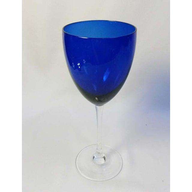 Elegant Set of 13 Cobalt Blue Wine Glasses - Image 5 of 5