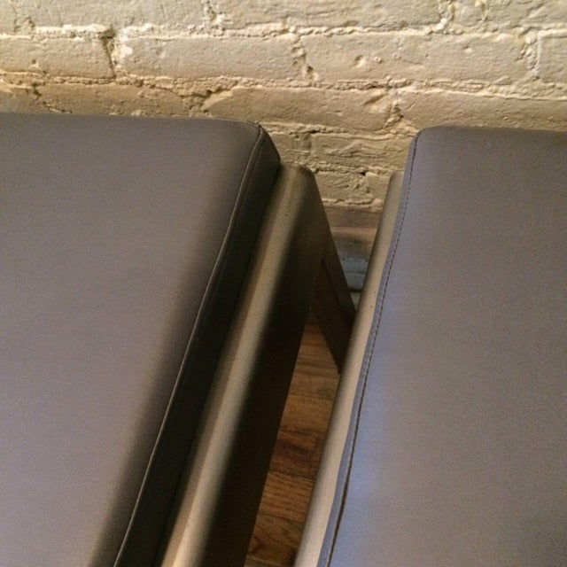 1930s 1930s Vintage Norman Bel Geddes for Simmons Art Deco Ottomans- A Pair For Sale - Image 5 of 9