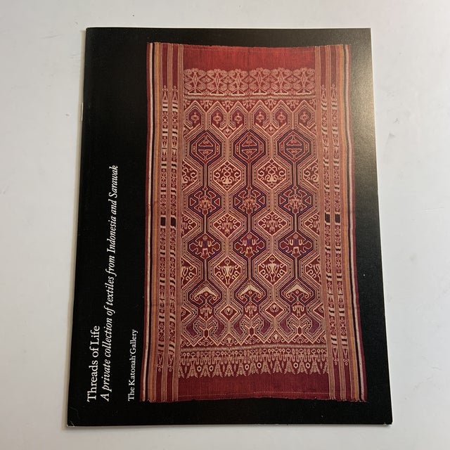 Red Threads of Life Textiles Indonesia Sarawak Book For Sale - Image 8 of 8