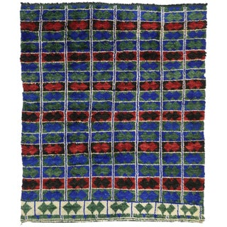 Late 20th Century Berber Moroccan Rug - 7′2″ × 8′5″ For Sale