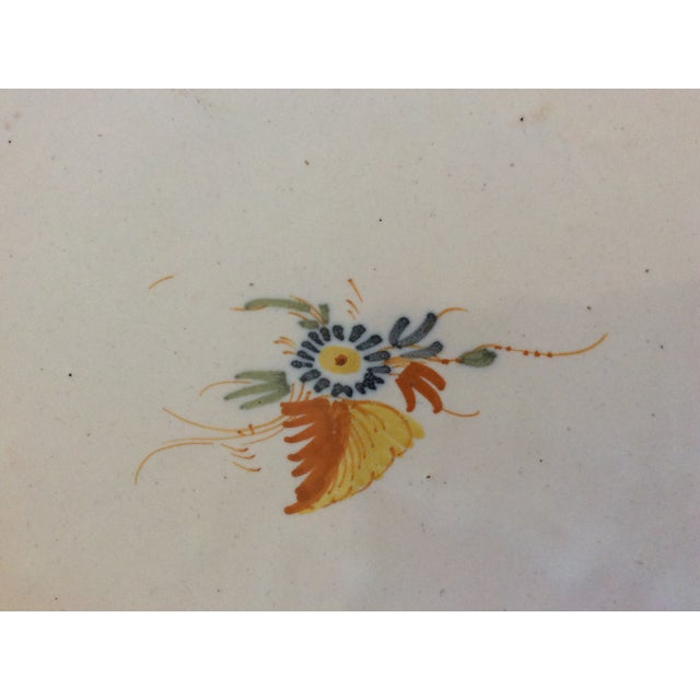Boho Chic Antique Blue & Yellow Provence Platter For Sale - Image 3 of 8
