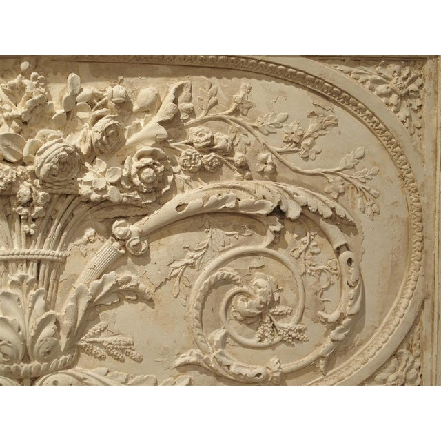 Wood Architectural Plaster and Wood Overdoor Panel From Provence, France For Sale - Image 7 of 9